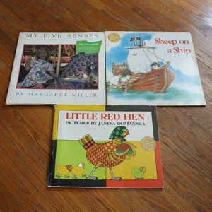 Trio of Vintage Oversized Children's Books